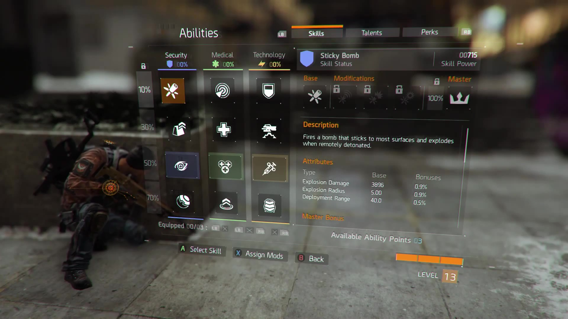 abilities the division zone abilities skills