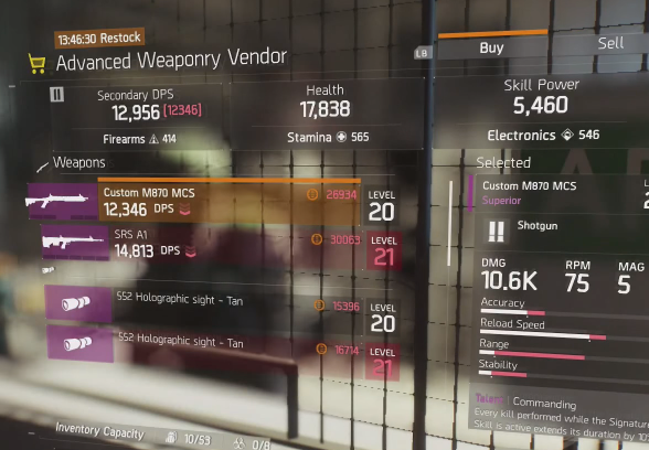 tc-the-division-advanced-weaponry-vendor-video-shot