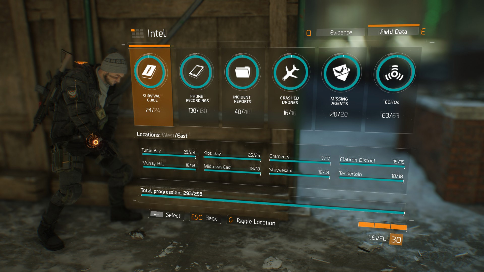 the division gear set checklist