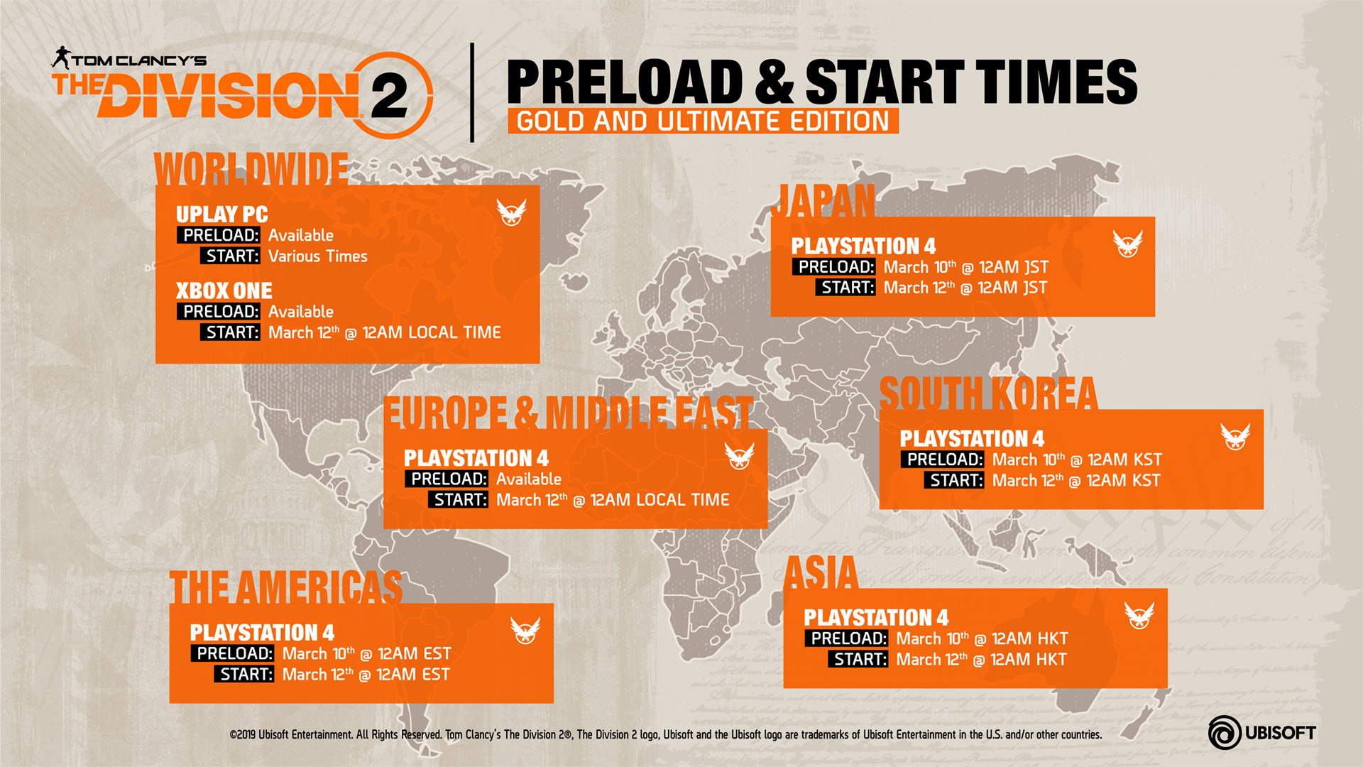 The Division 2 Details To Preload Start Times Download
