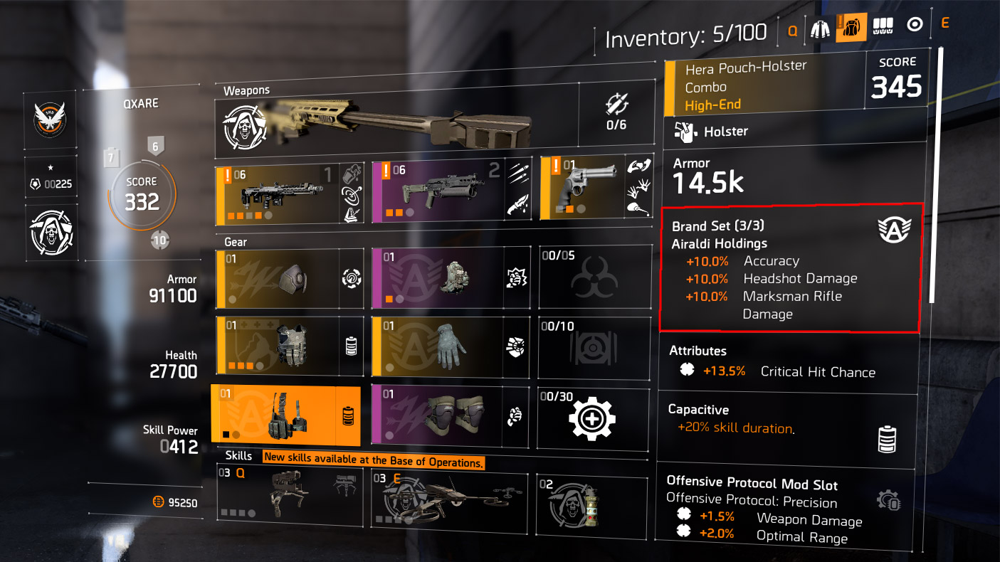Brand Sets / Items / The Division 2 / The Division Zone
