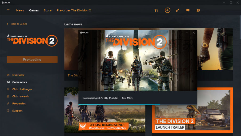 Tom Clancy's The Division 2 Preload Now Available on PC ...