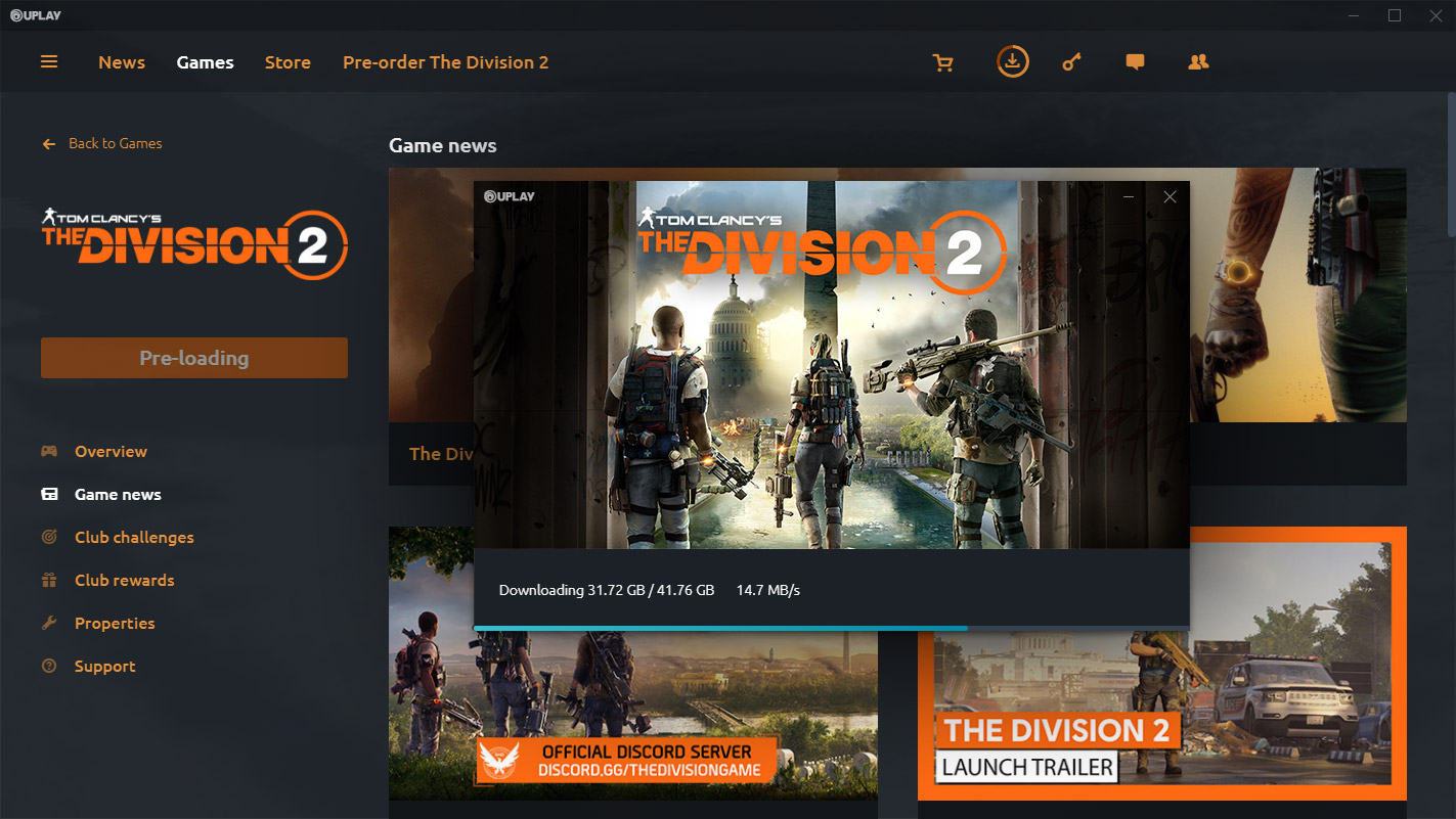 Tom Clancy's The Division 2 Preload Now Available on PC, PS4 & Xbox